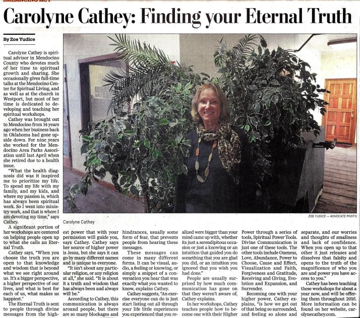 Carolyne Advocate Article Eternal Truths