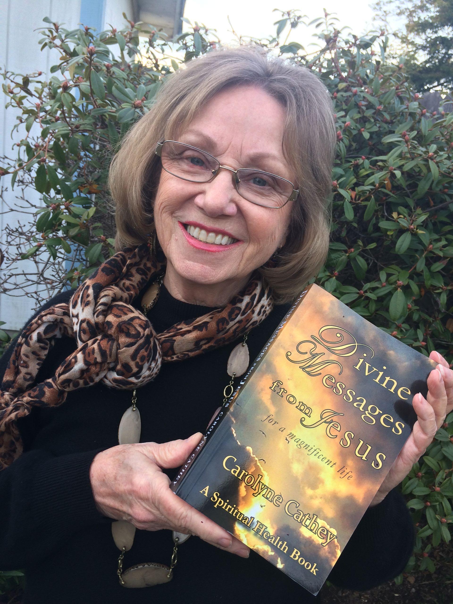 Carolyne photo with book
